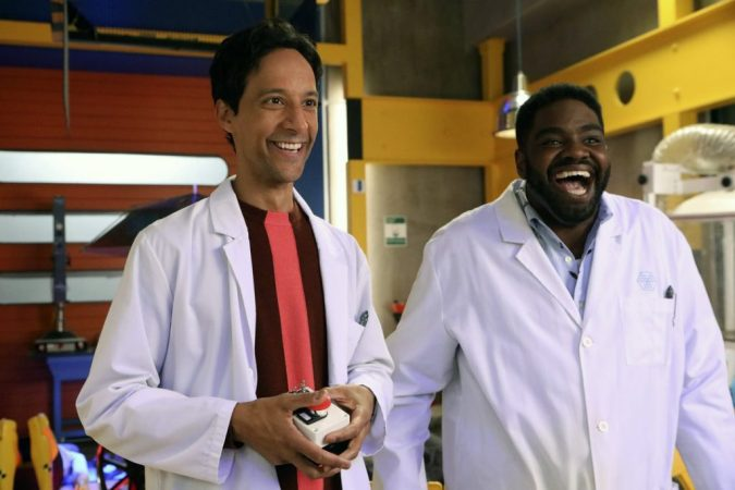 Powerless: Danny Pudi as Teddy and Ron Funches as Ron