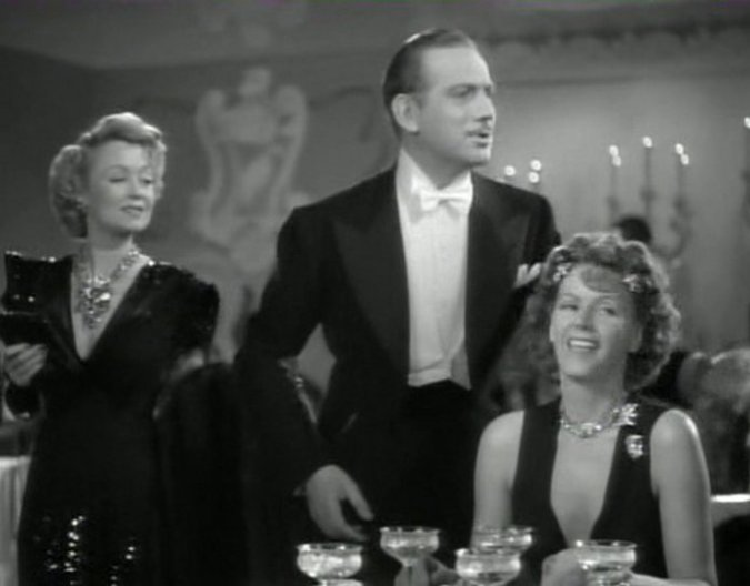Constance Bennett, Melvyn Douglas, and Greta Garbo in Two-Faced Woman