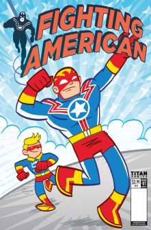 Fighting American #1 cover by Art Baltazar