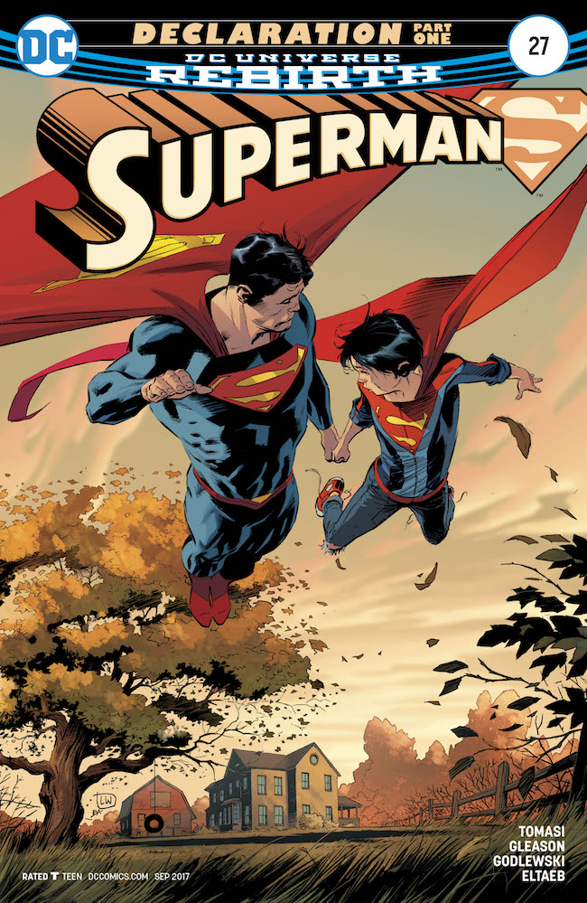 Superman #27 cover by Lee Weeks