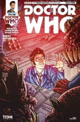 Doctor Who: The Tenth Doctor Year Three #6 cover by Blair Shedd