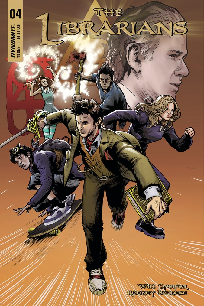 The Librarians #4 cover by Karl Moline