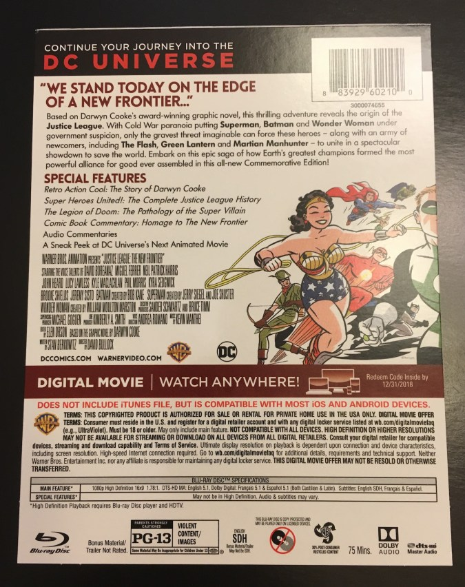 Justice League: The New Frontier Commemorative Edition steelbook cardboard overwrap