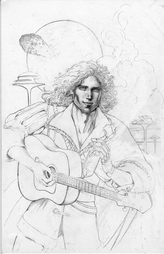 Draft of the Silver Metal Lover variant cover by Colleen Doran