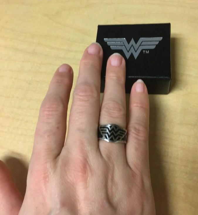 Wonder Woman silver logo ring