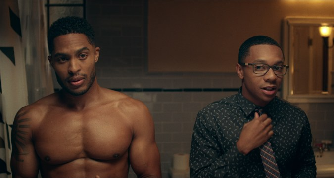 Troy (Brandon P. Bell) and Lionel (DeRon Horton) in Dear White People season 2