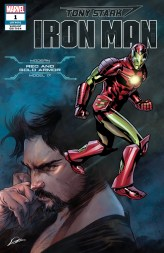 Modern Red and Gold Armor Variant Cover - Tony Stark Iron Man #1