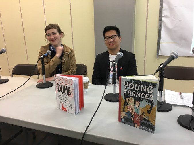 Georgia Webber and Hartley Lin at TCAF 2018