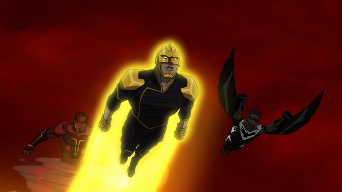 Red Tornado, the Ray, and Black Condor
