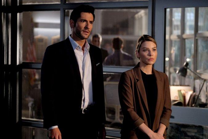 Tom Ellis as Lucifer and Lauren German as Chloe Decker