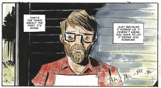 Royal City #14 panel by Jeff Lemire