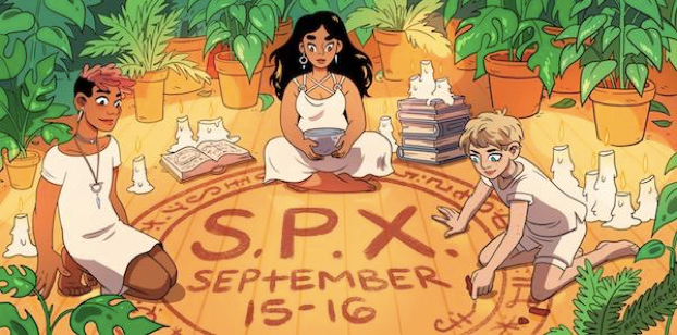 SPX 2018 banner by Molly Ostertag