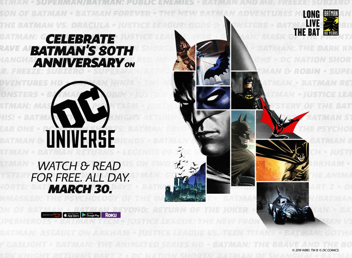 Batman on DC Universe Free Today