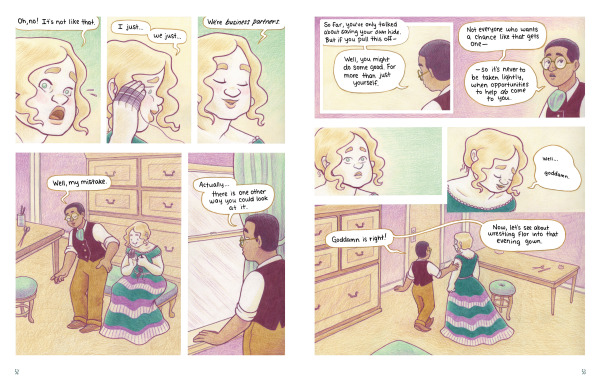 Stage Dreams pages by Melanie Gillman