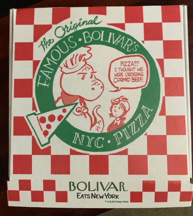 Boliver Eats New York pizza box