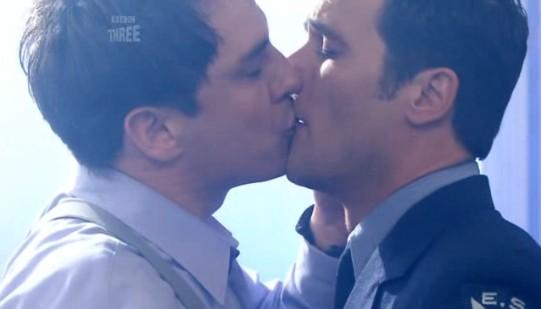 Jack and Jack kissing