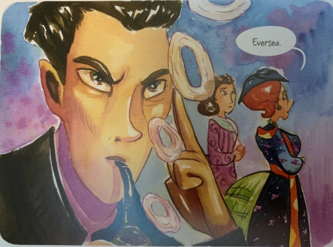Panel from Enola Holmes: The Case of the Bizarre Bouquets