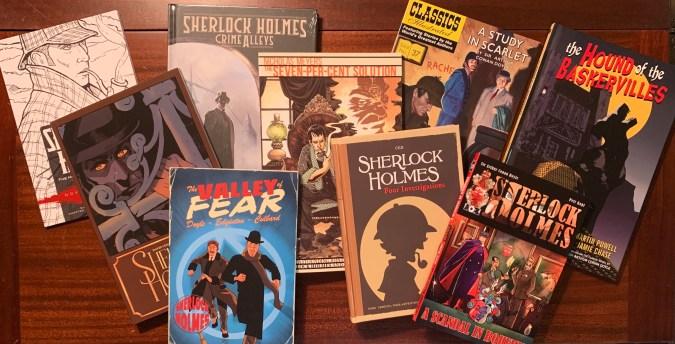 Various Sherlock Holmes comics
