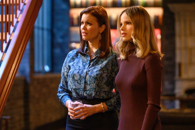 Bellamy Young and Halston Sage in Prodigal Son