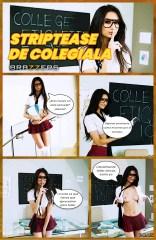 Striptease de colegiala [Brazzers] [Eliza Ibarra] XXX comic