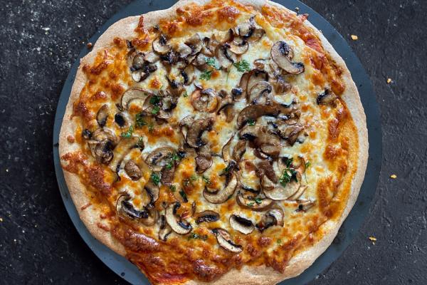 Pizza rápida de cogumelos
