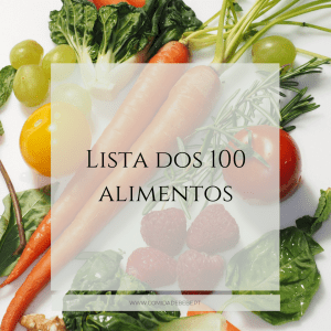 lista dos 100 alimentos