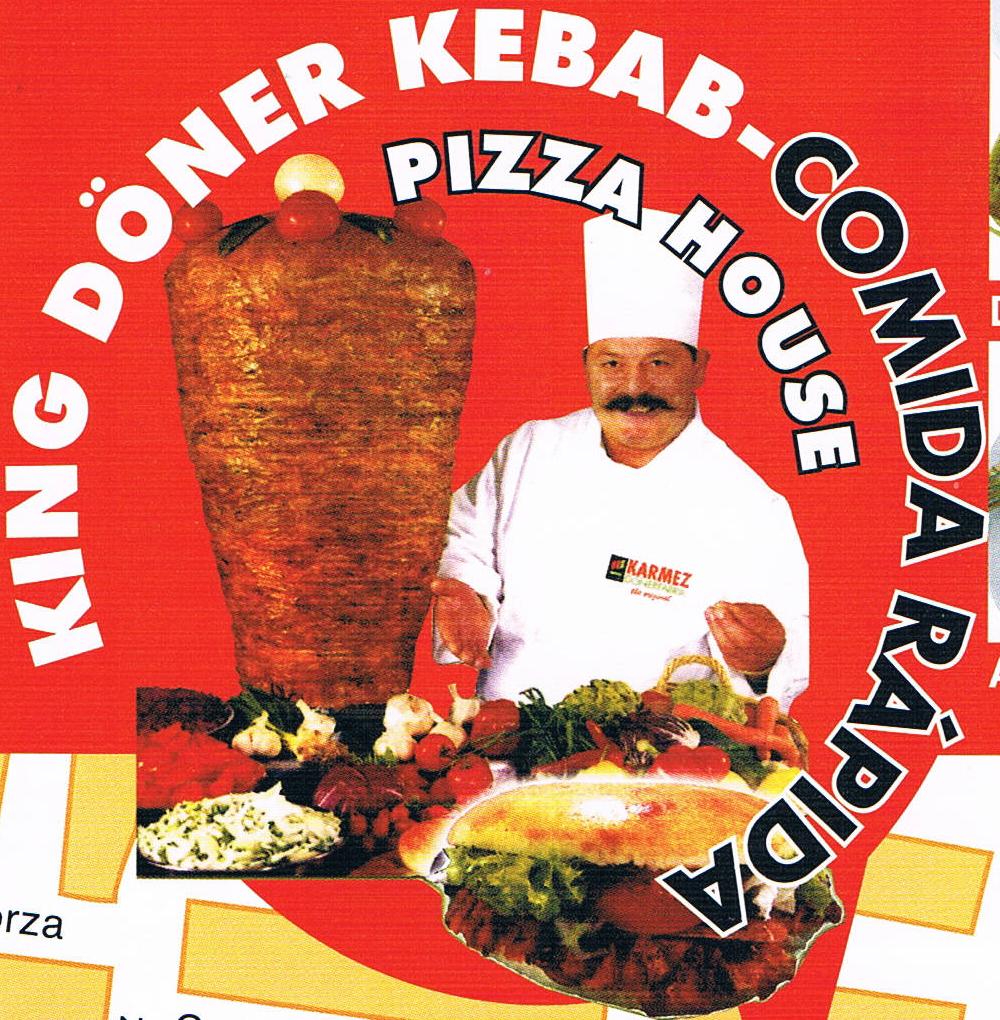 King Dner Kebab Comida Rpida  Pizza House Comida Turca