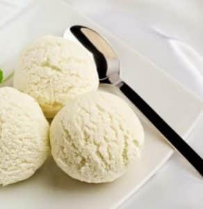 receta de helado de chirimoya con mango