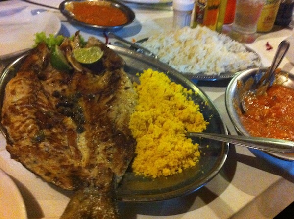 Anchova grelhada, Lagoa Restaurante