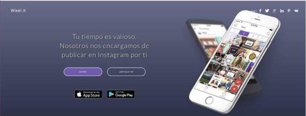 Aplicación para subir fotos a Instagram