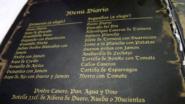 Menú del Día - Mesón Don Enrique Valladolid