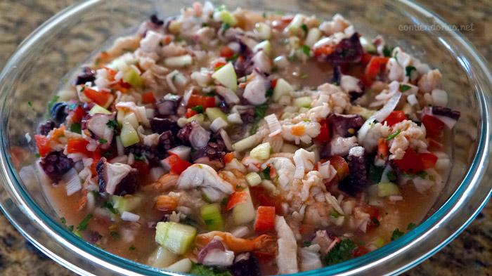 tostadas de mariscos comiendorico.net