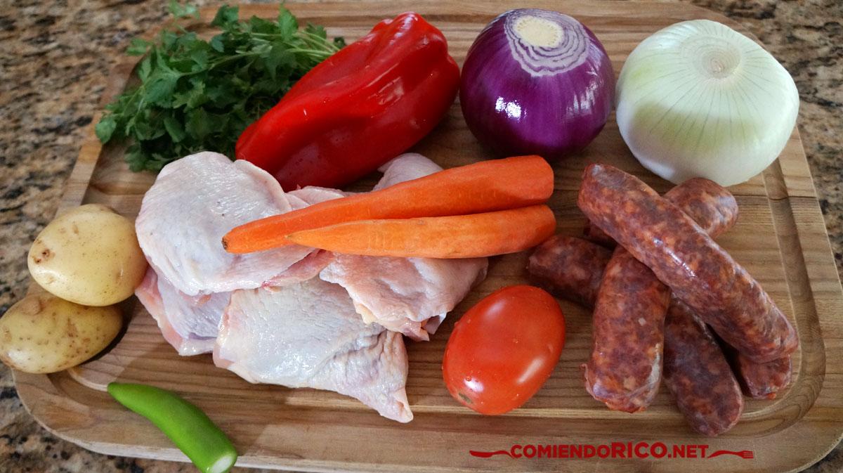 pollo al horno con salchichones, Comiendo Rico, recetas