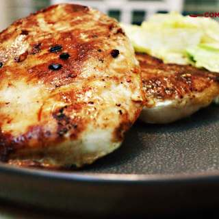 plancha de sal rosa del himalaya, pollo asado