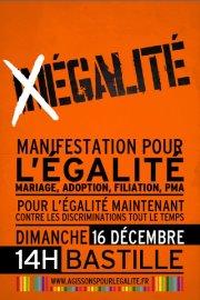 Paris 16 déc - Manifestation pour l'égalité @ Manifestation pour l'égalité | פריס | Île-de-France | צרפת