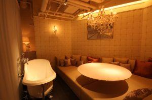 風呂付きベット席