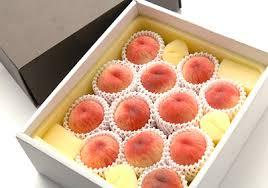 桃のおすそ分け