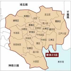 東京あるある:23区を全部言えない