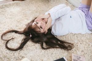 髪の毛でハート