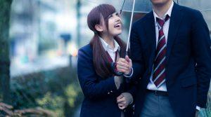 相合傘をせがむ彼女