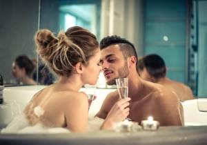 最後はお風呂で擬似セックス