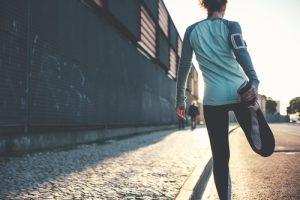 運動選手の女性