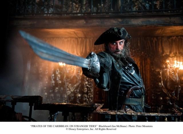 Ian McShane as Blackbeard in Disney's Pirates of the Caribbean On Stranger Tides