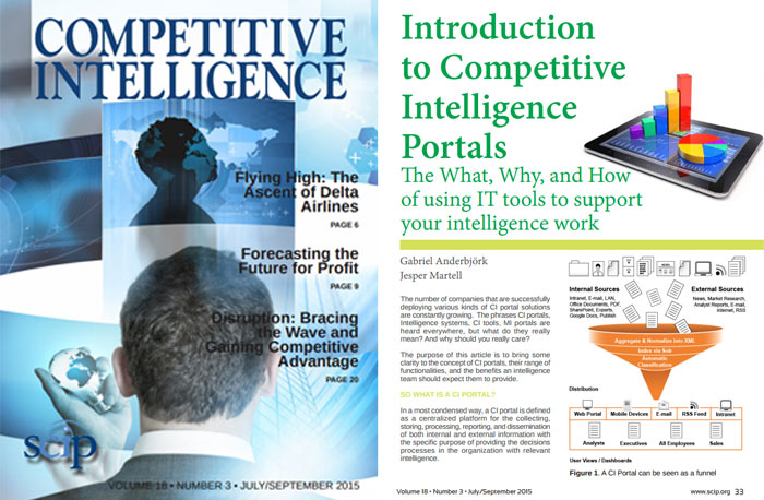 competitive intelligence portals