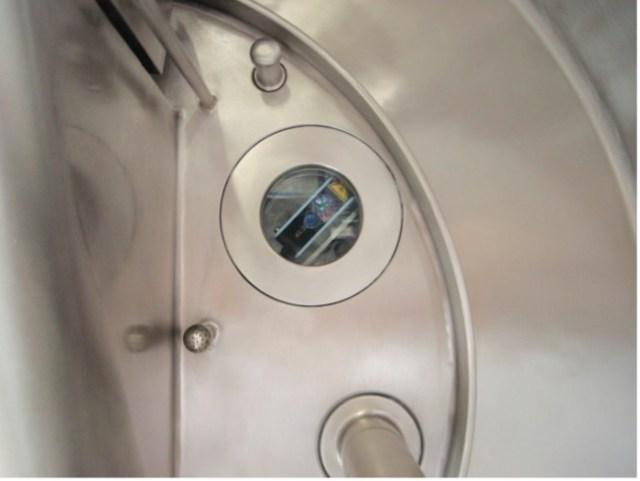 Laser Cake detector device pharma