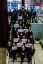 Mujeres de Clarín/Agea reunidas ante la convocatoria de #NiUnaMenos (octubre 2016)