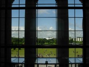 Berlin ! Vue sur l'extérieur depuis le Bundestag. 2007