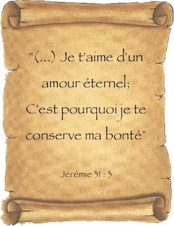 Je T'aime D'un Amour éternel : t'aime, amour, éternel, Jérémie, Amour, éternel…