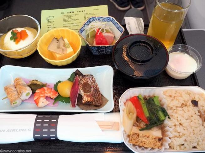 JAL92 GMP-HND ビジネスクラス機内食