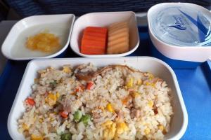 バンコクエアウェイズ PG943 バンコクービエンチャン エコノミークラス機内食